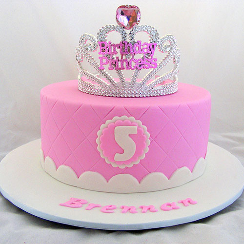Purple  Layer Cake With Tiara
