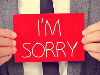 رسائل أسف واعتذار جنان